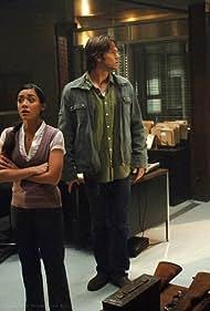 Jensen Ackles, Aimee Garcia, Jared Padalecki, and Charles Malik Whitfield in Supernatural (2005)
