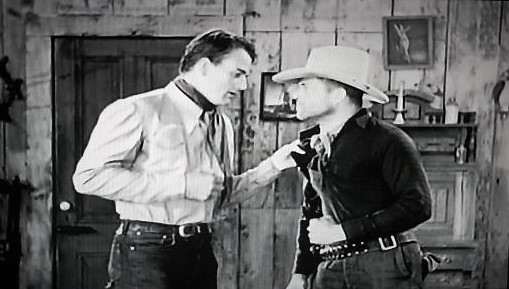 John Wayne and Reed Howes in The Dawn Rider (1935)