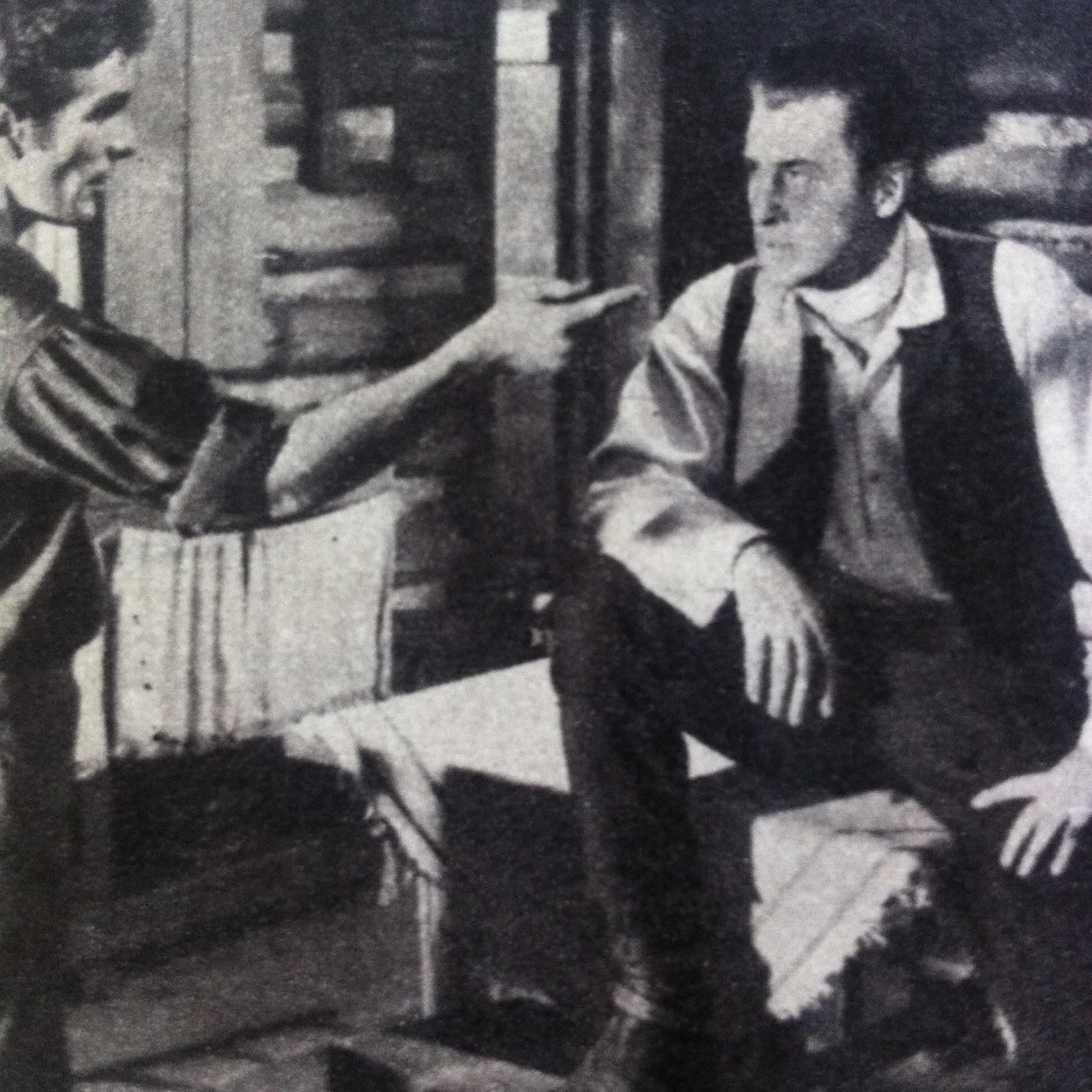 Stewart Granger and Steve Rowland in Gun Glory (1957)