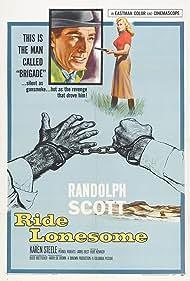 Randolph Scott and Karen Steele in Ride Lonesome (1959)