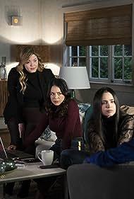 Janel Parrish, Sasha Pieterse, Sofia Carson, and Eli Brown in Pretty Little Liars: The Perfectionists (2019)