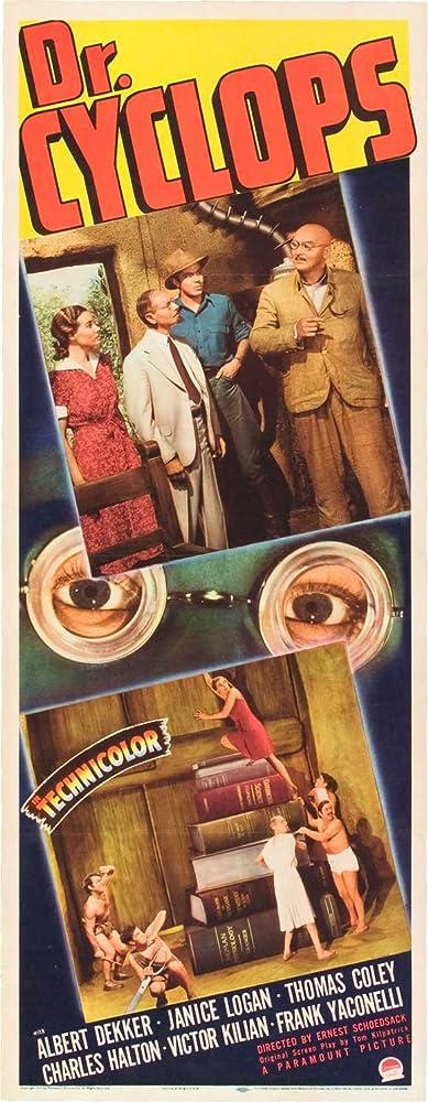 Thomas Coley, Albert Dekker, Charles Halton, Victor Kilian, and Janice Logan in Dr. Cyclops (1940)
