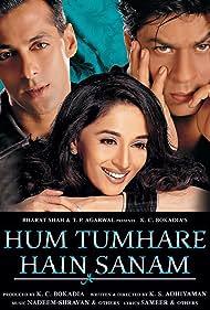 Madhuri Dixit, Salman Khan, and Shah Rukh Khan in Hum Tumhare Hain Sanam (2002)