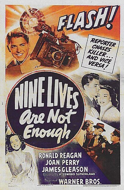 Ronald Reagan and Joan Perry in Nine Lives Are Not Enough (1941)