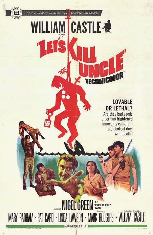 Mary Badham, Pat Cardi, Nigel Green, and Linda Lawson in Let's Kill Uncle (1966)