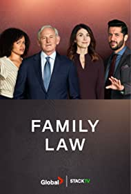 Victor Garber, Jewel Staite, Genelle Williams, and Zach Smadu in Family Law (2021)
