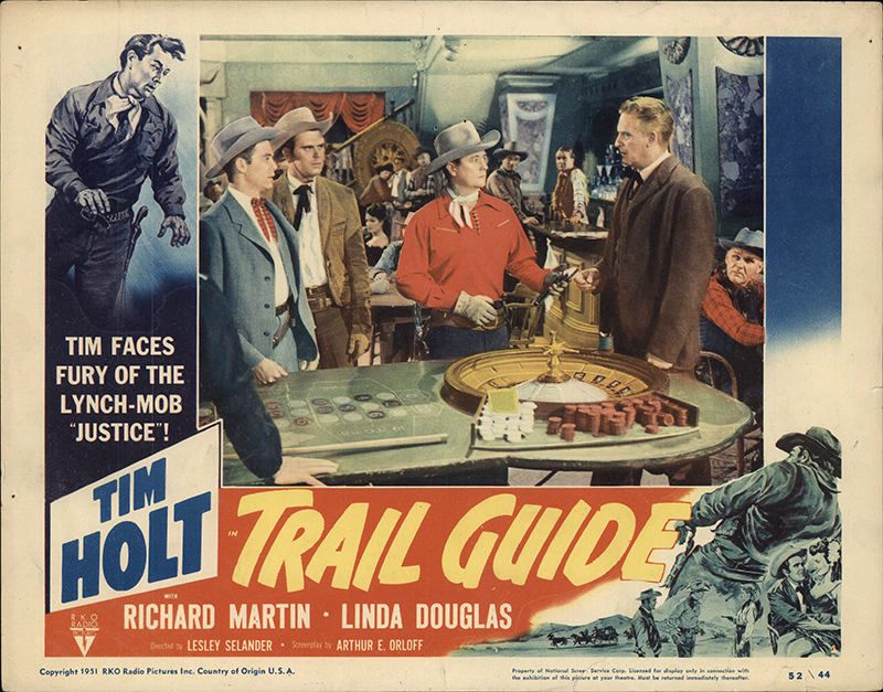 Tim Holt, Richard Martin, Frank Wilcox, and Robert Sherwood in Trail Guide (1952)