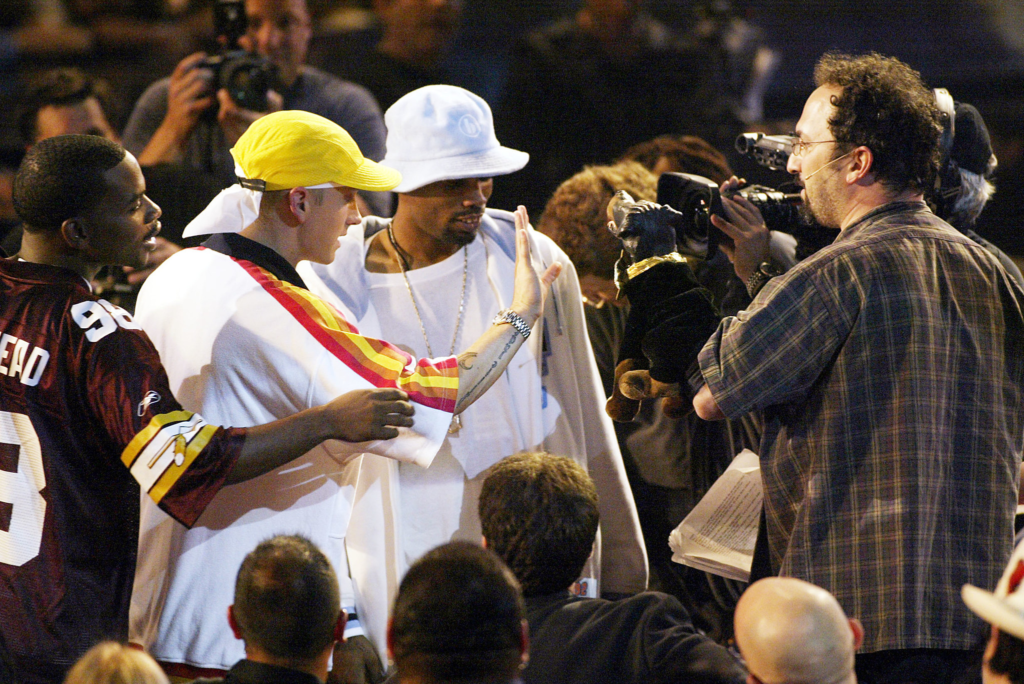 Eminem, Robert Smigel, Proof, and Obie Trice at an event for 2002 MTV Video Music Awards (2002)