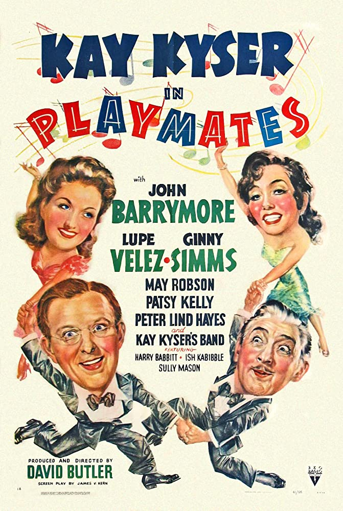 John Barrymore, Kay Kyser, Ginny Simms, and Lupe Velez in Playmates (1941)