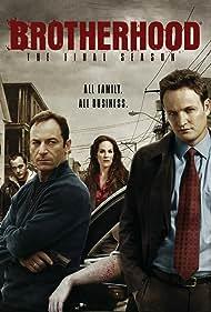 Annabeth Gish, Jason Isaacs, and Jason Clarke in Brotherhood (2006)