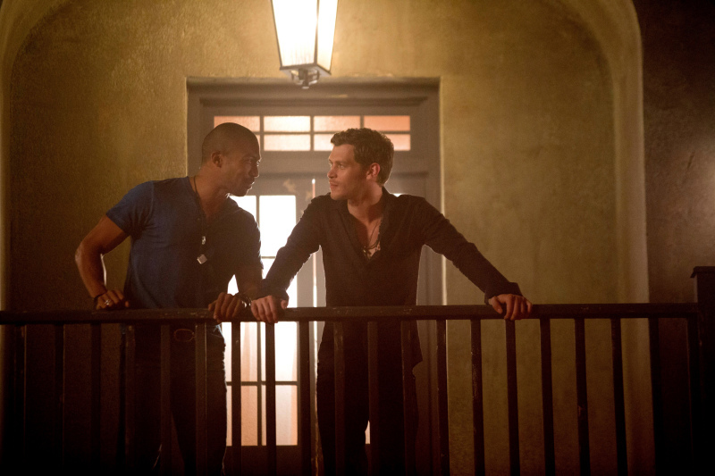 Joseph Morgan and Charles Michael Davis in The Originals (2013)