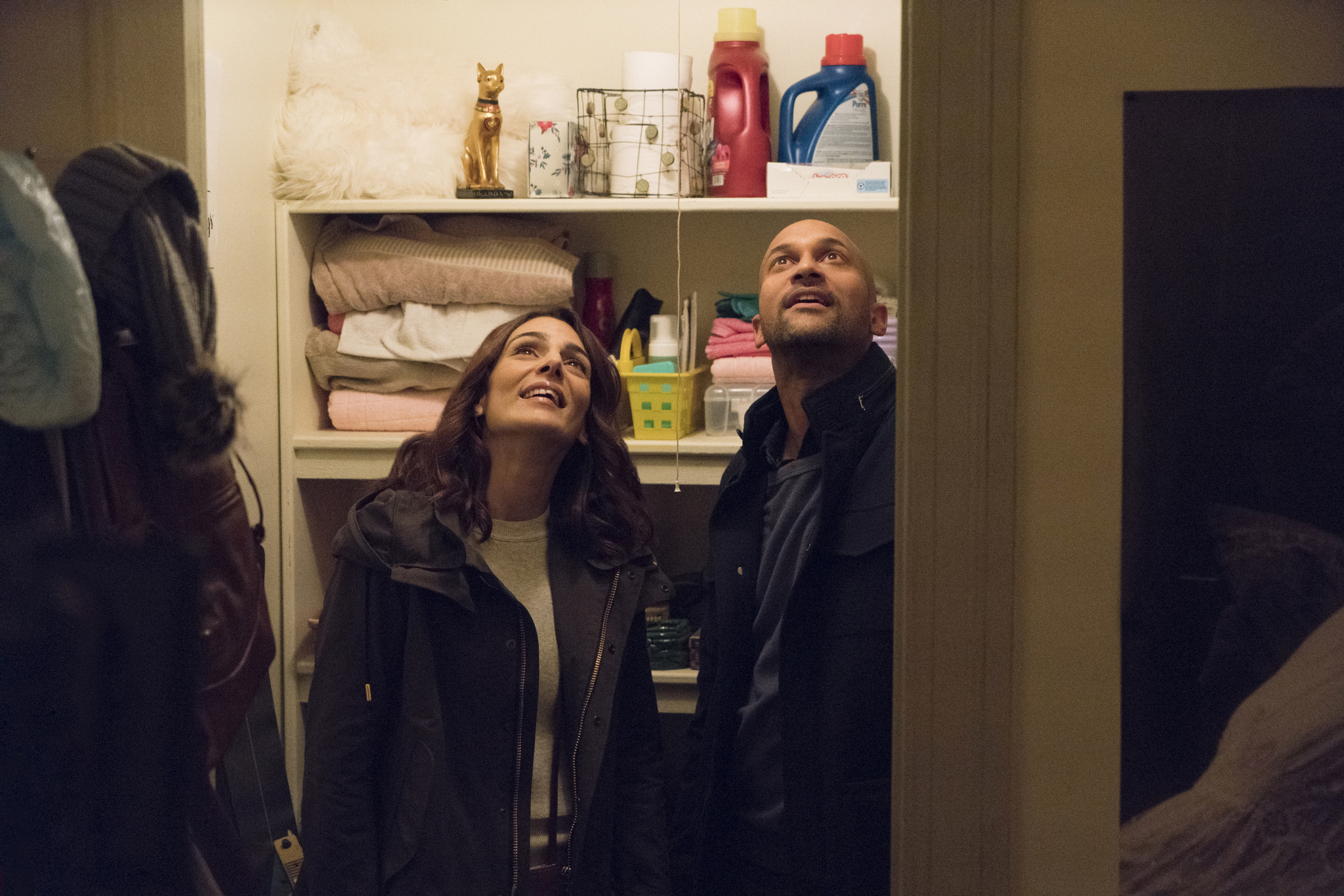 Annie Parisse and Keegan-Michael Key in Friends from College (2017)