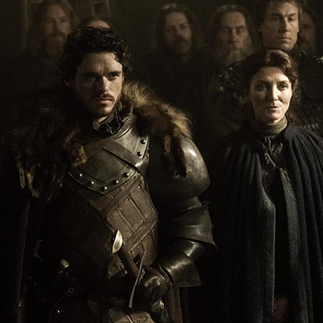 Michelle Fairley, Richard Madden, and Tobias Menzies in Game of Thrones (2011)