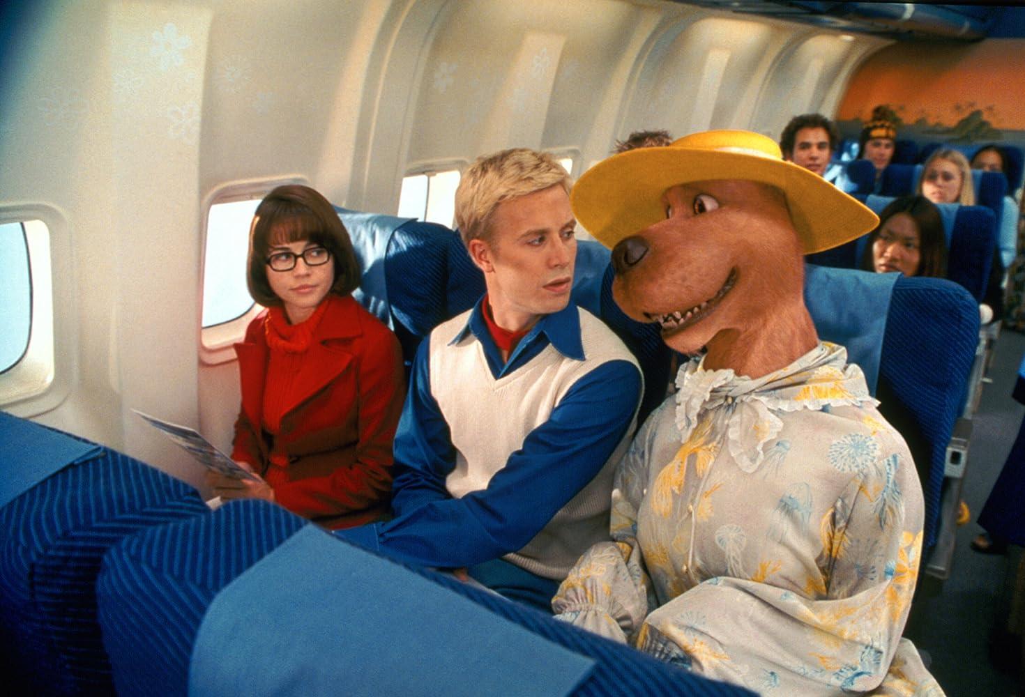 Linda Cardellini, Freddie Prinze Jr., and Neil Fanning in Scooby-Doo (2002)
