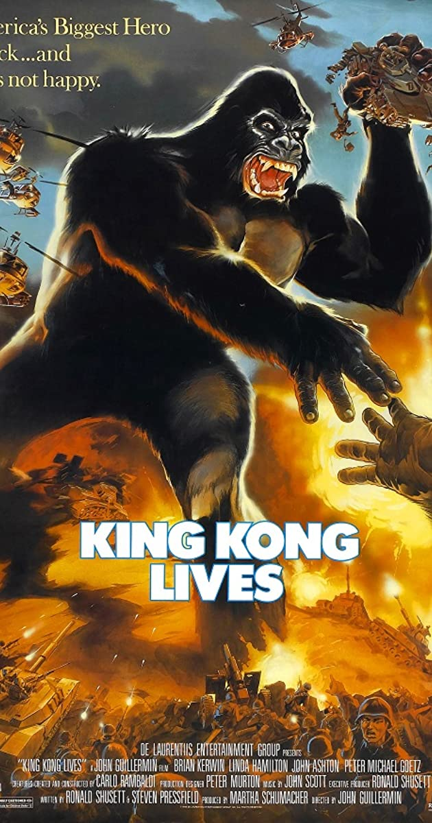 King Kong Lives 1986 Movie poster