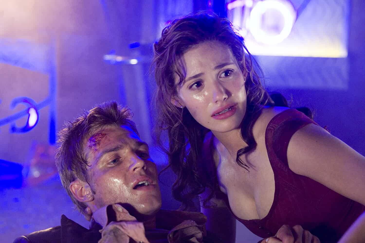 Emmy Rossum and Mike Vogel in Poseidon (2006)