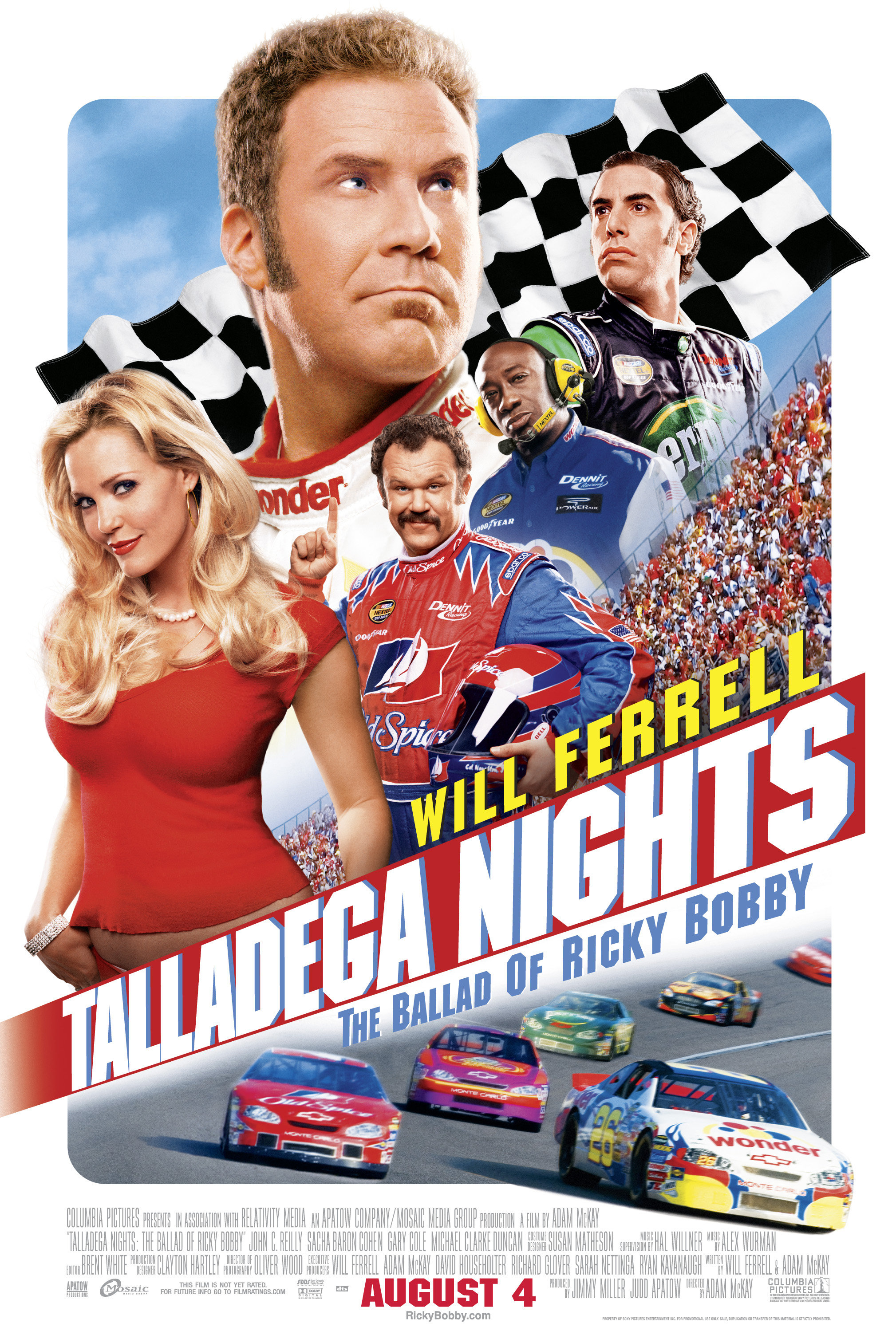 Shop talladega nights the ballad of ricky bobby movie poster.
