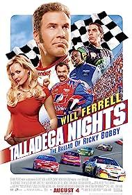 John C. Reilly, Will Ferrell, Michael Clarke Duncan, Leslie Bibb, and Sacha Baron Cohen in Talladega Nights: The Ballad of Ricky Bobby (2006)