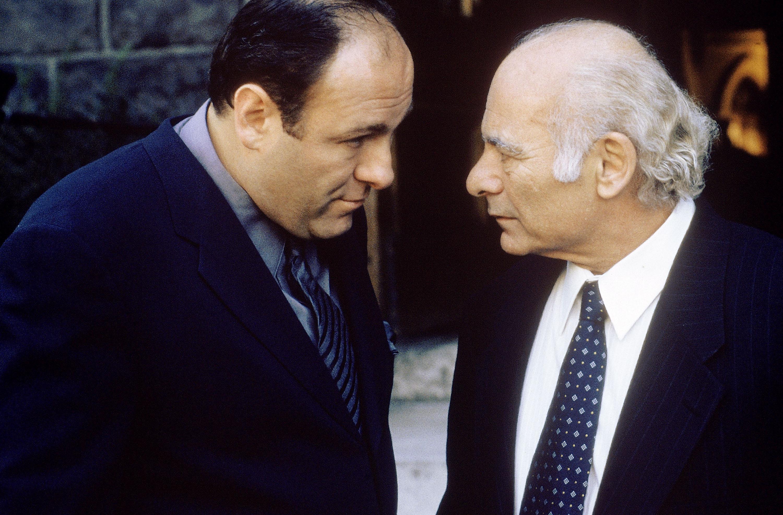 James Gandolfini and Burt Young in The Sopranos (1999)