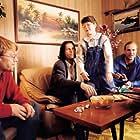 Þorsteinn Bachmann, Jón Gnarr, Hafdís Helga Helgadóttir, and Þórhallur Sverrisson in Íslenski draumurinn (2000)