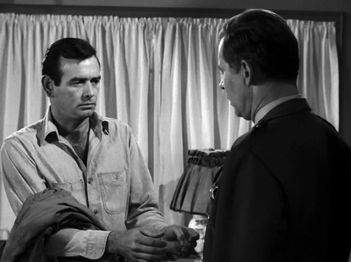 David Janssen and Frank Overton in The Fugitive (1963)