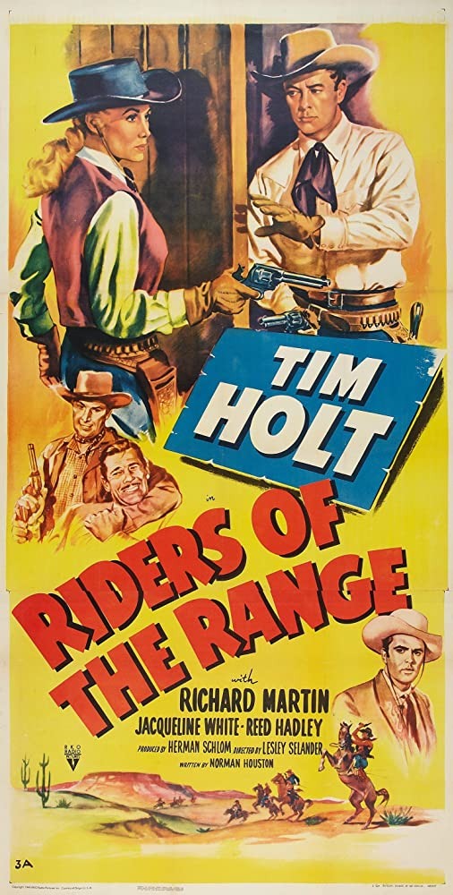 Tim Holt, Richard Martin, and Jacqueline White in Riders of the Range (1950)