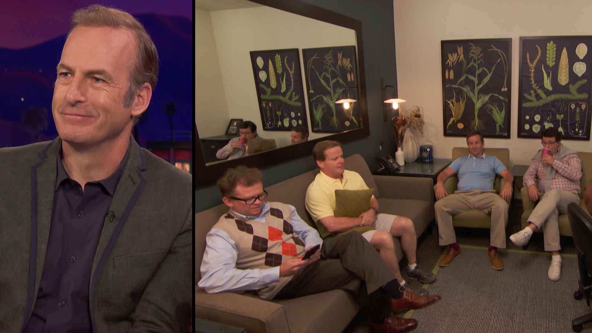 Brian Habicht, Bob Odenkirk, Alan Heitz, Doug Morency, and J.P. Giuliotti in Conan (2010)