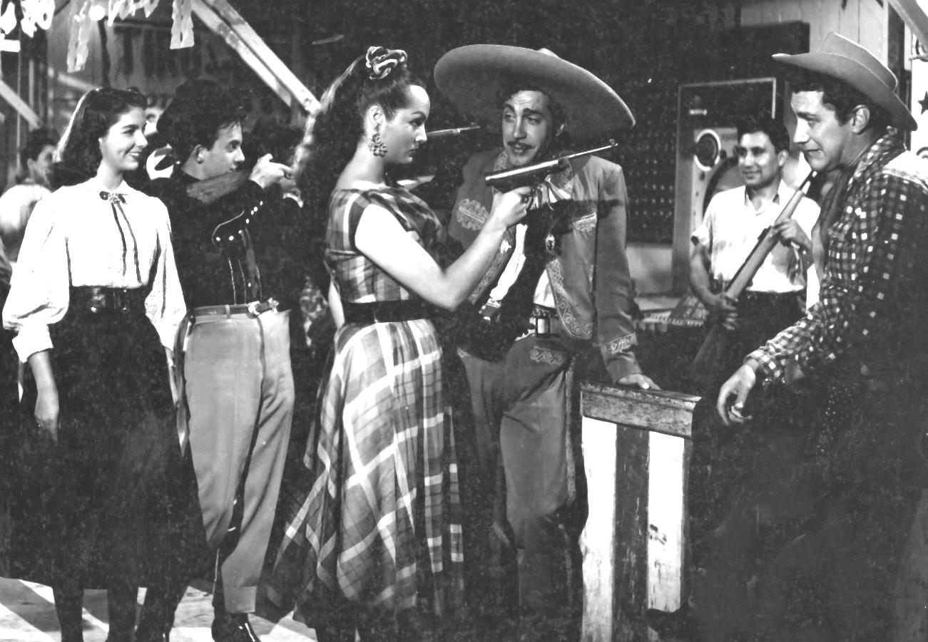 Marco de Carlo, Joaquín Cordero, Freddy Fernández, Sara Montiel, and Alicia Rodríguez in Yo soy gallo dondequiera!.. (1953)