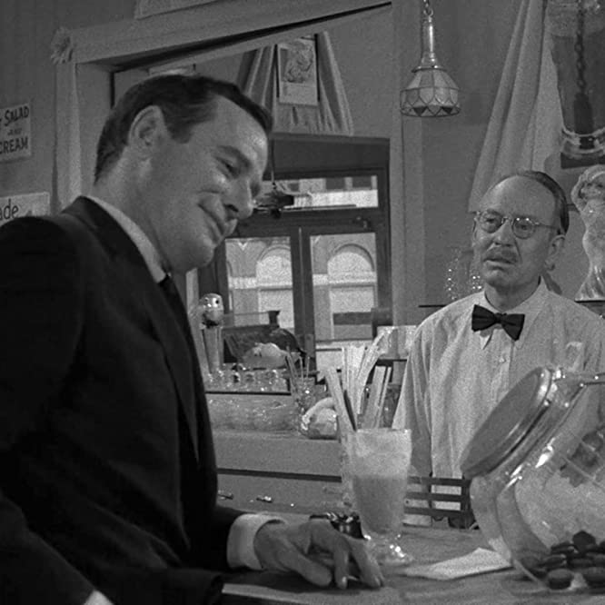 Byron Foulger and Gig Young in The Twilight Zone (1959)
