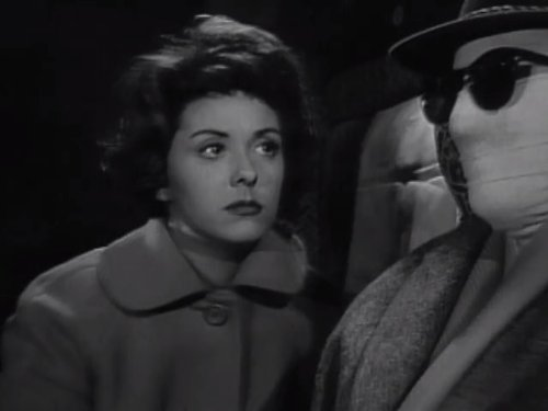 Lana Morris and Tim Turner in The Invisible Man (1958)