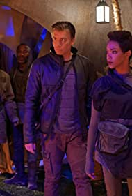 Andrew Moodie, Anson Mount, Sonequa Martin-Green, and Oyin Oladejo in Star Trek: Discovery (2017)