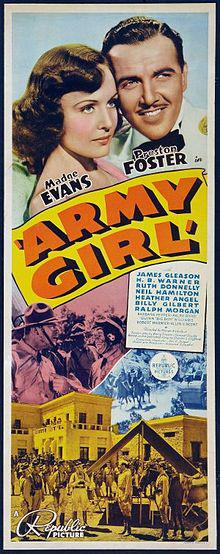Madge Evans, Preston Foster, and James Gleason in Army Girl (1938)
