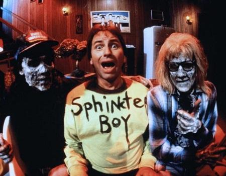 John Ritter, Jimi Defilippis, and Michael Patrick Hogan in Stay Tuned (1992)