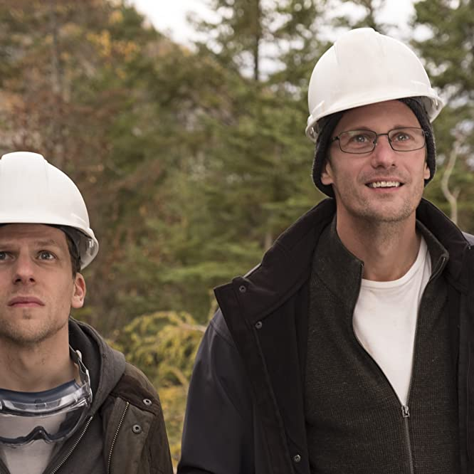 Alexander Skarsgård and Jesse Eisenberg in The Hummingbird Project (2018)