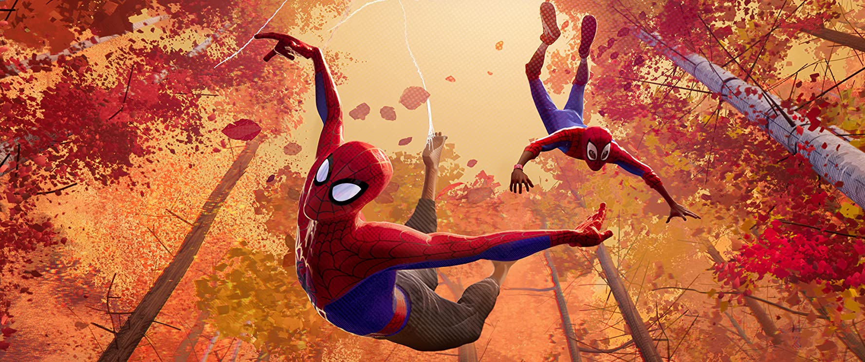 Jake Johnson and Shameik Moore in Spider-Man: Into the Spider-Verse (2018)