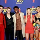 Madelyn Cline, Jonathan Daviss, Madison Bailey, Chase Stokes, and Rudy Pankow at an event for 2021 MTV Movie & TV Awards (2021)