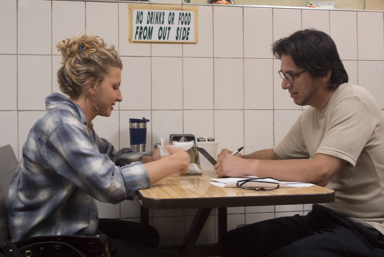 Ray Romano and Nina Arianda in Rob the Mob (2014)