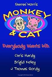 Monkey & Cat Poster