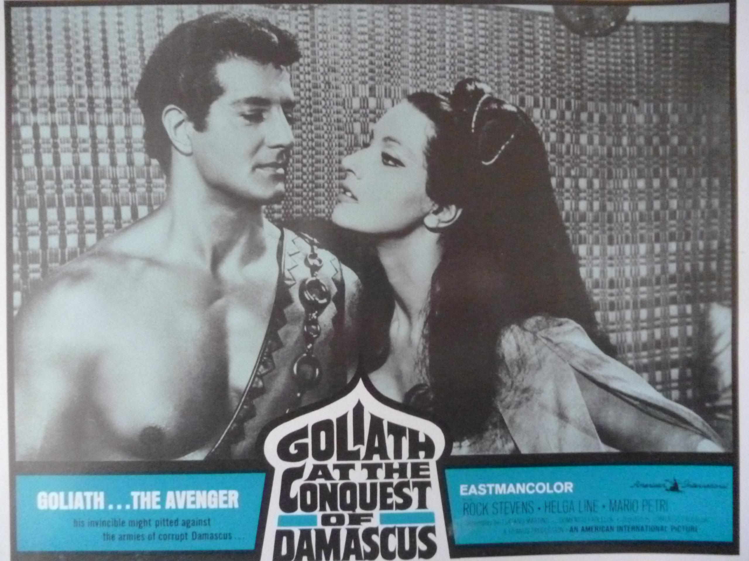 Helga Liné and Peter Lupus in Golia alla conquista di Bagdad (1965)