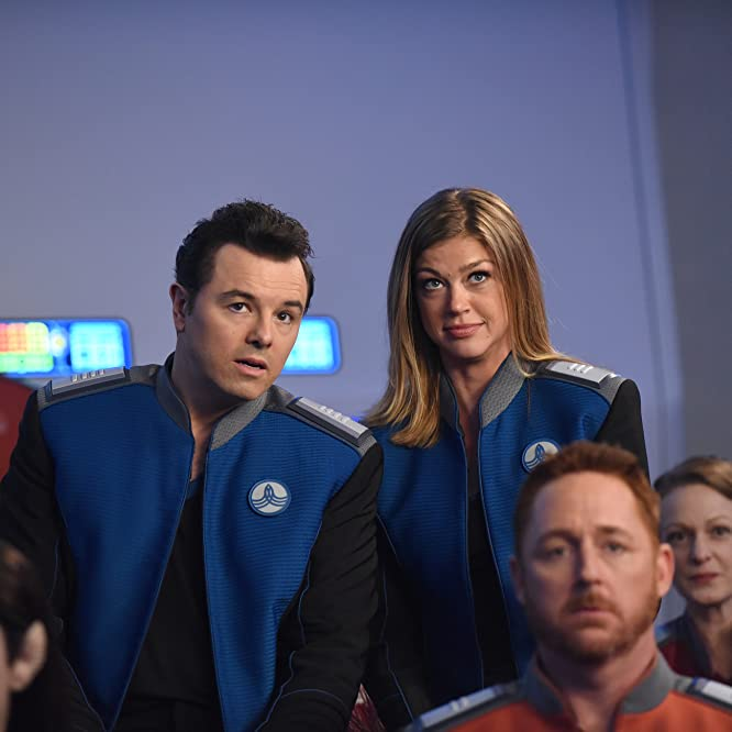 Scott Grimes, Seth MacFarlane, Adrianne Palicki, and Halston Sage in The Orville (2017)
