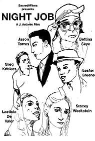 Bettina Skye, Lester Greene, Jason Torres, Greg Kritikos, Stacey Weckstein, and Laeticia De Valer in Night Job (2017)