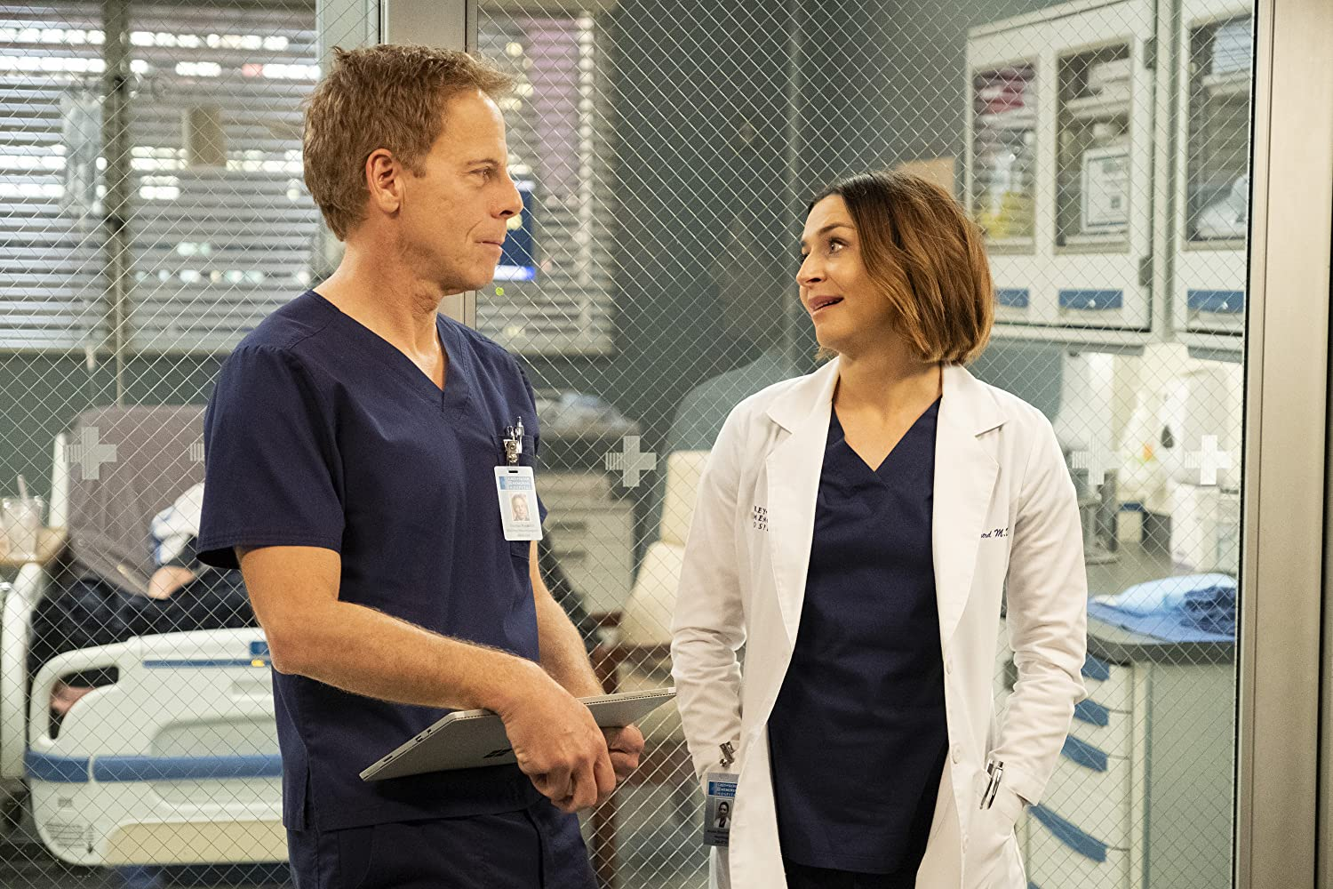Greg Germann and Caterina Scorsone in Grey's Anatomy (2005)
