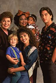 Scott Baio, Polly Bergen, Mary Page Keller, Paul Jessup, Ryan Jessup, Celicia Johnson, Francesca P. Roberts, and Alicia Johnson in Baby Talk (1991)
