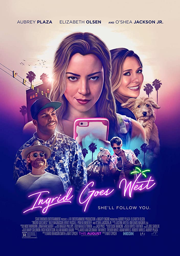 Elizabeth Olsen, Wyatt Russell, Aubrey Plaza, Billy Magnussen, and O'Shea Jackson Jr. in Ingrid Goes West (2017)