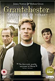 Robson Green, Morven Christie, and James Norton in Grantchester (2014)
