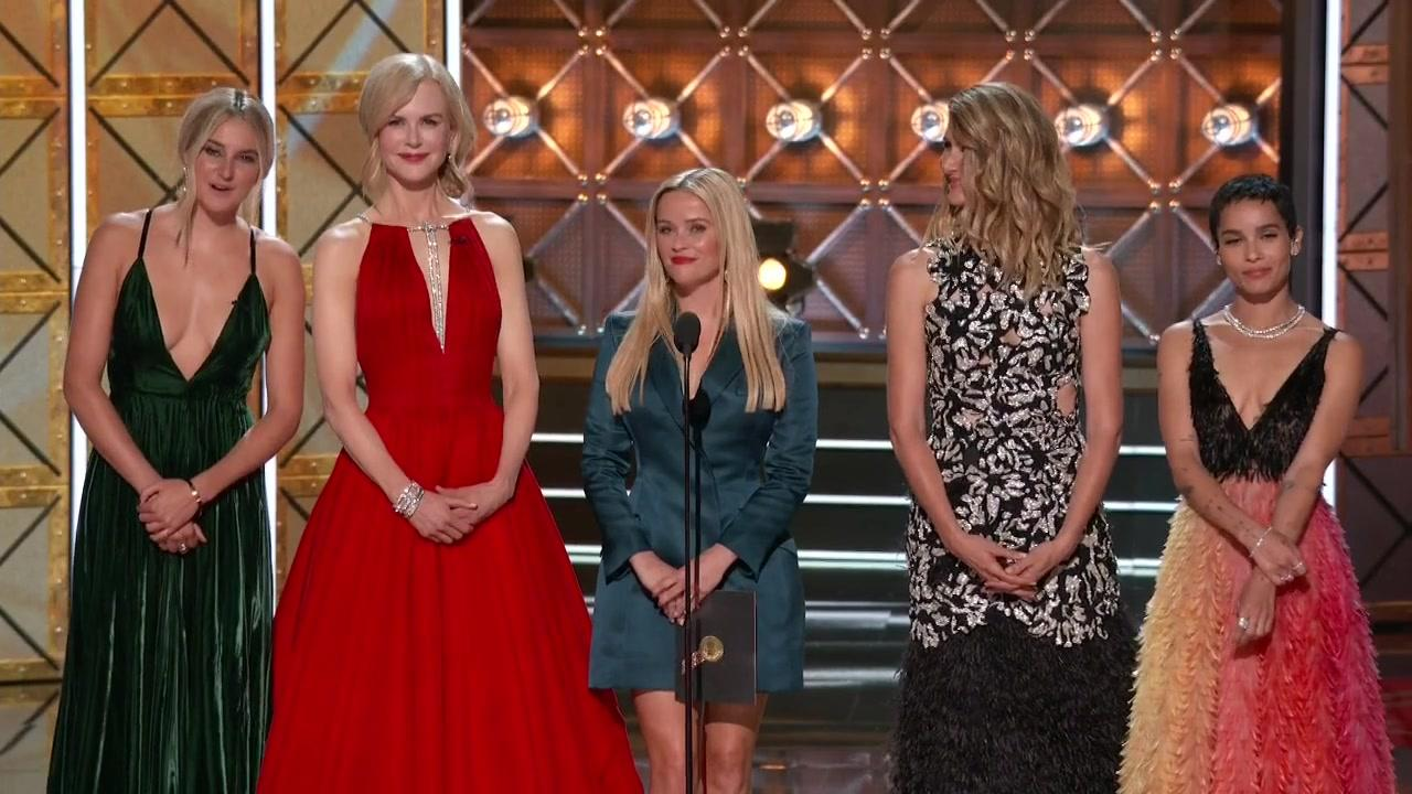 Nicole Kidman, Laura Dern, Reese Witherspoon, Shailene Woodley, and Zoë Kravitz in The 69th Primetime Emmy Awards (2017)