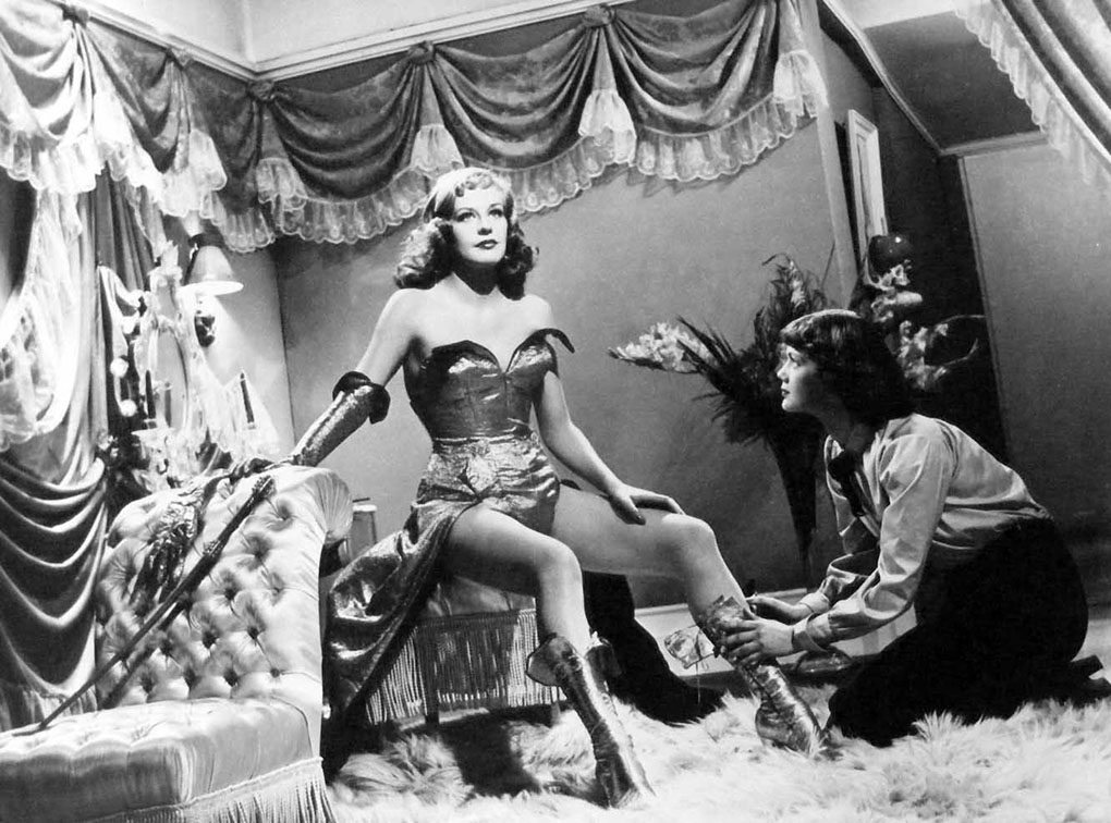 Hildegard Knef and Dany Robin in La fête à Henriette (1952)
