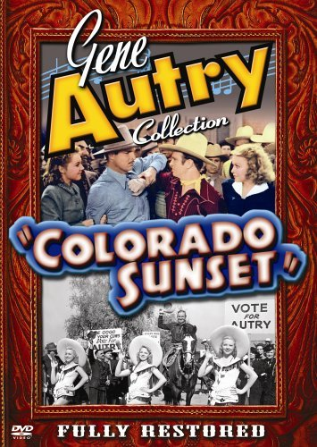 Gene Autry, Betty Atkinson, Maxine Conrad, Buster Crabbe, Barbara Pepper, June Storey, and Champion in Colorado Sunset (1939)