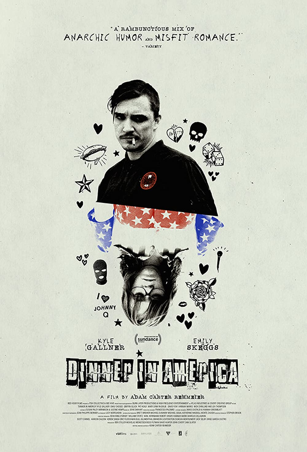 Download Dinner in America (2020) WebRip 720p Dual Audio [Hindi (Voice Over) Dubbed + English] [Full Movie] Full Movie Online On 1xcinema.com