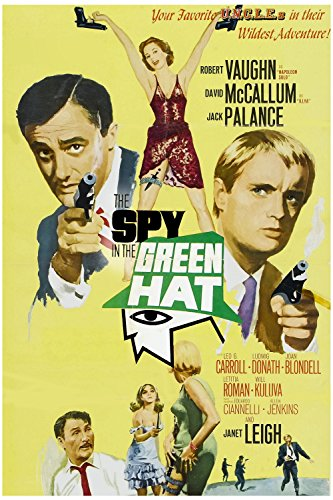 Janet Leigh, Jack Palance, Robert Vaughn, and David McCallum in The Spy in the Green Hat (1967)